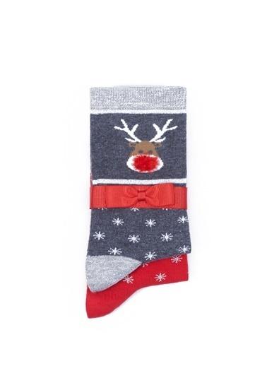 Mavi Çorap Kırmızı
